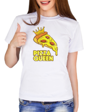 "Футболка ""Pizza queen""_19083"