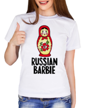 "Футболка ""Russian Barbie""_18038"