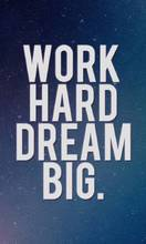 "Плакат ""Work hard dream big""_53009"